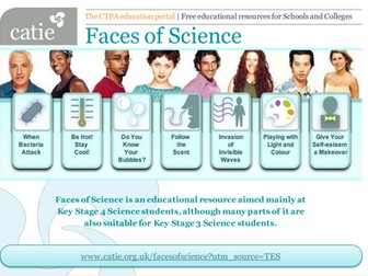 Faces of Science website for Key Stages 3 and 4 Science