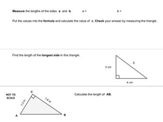 Pythagoras Questions