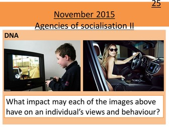 Sociology H580 / H180 Lesson 13 Agencies of Socialisation 2: Media, Religion and Workplace