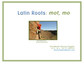 """Know the Code: Roots """"mo, mot"""""""