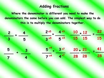 Maths mats