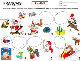 French Christmas and Pere Noel Writing Activity