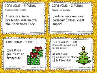 French Board Game Christmas Noel