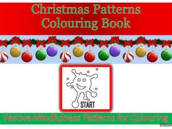 Christmas crafts. Christmas Patterns Colouring Book
