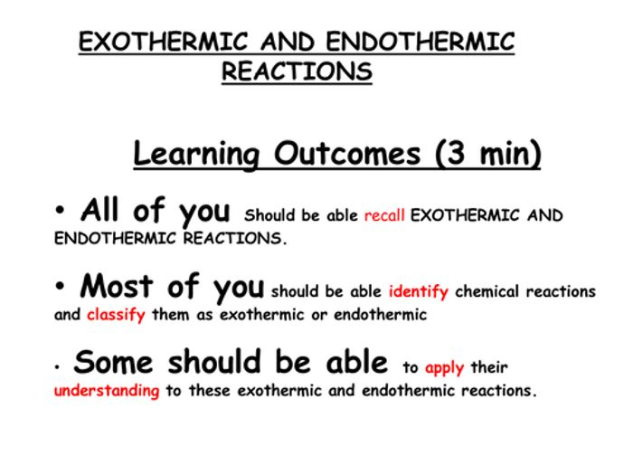 Endothermic Vs Exothermic. | 6th grade chemistry | Pinterest ...