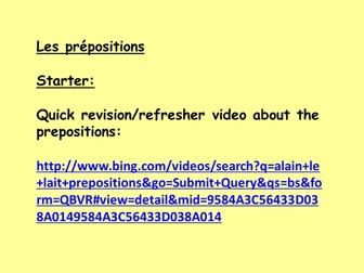 Interview lesson!  How to describe what I have in my bedroom using the correct prepositions?