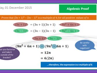 Algebraic Proof - GCSE Maths 9 - 1