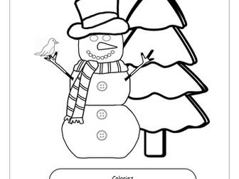 FRENCH ~ CHRISTMAS ~ Un Bonhomme de Neige s'appelle Frosty ~ Lisez et Dessinez