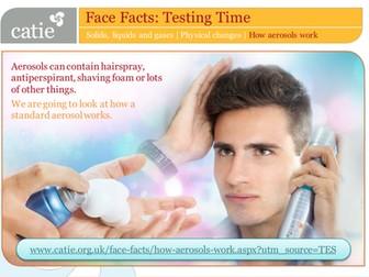 Testing Time – how aerosols work web activity