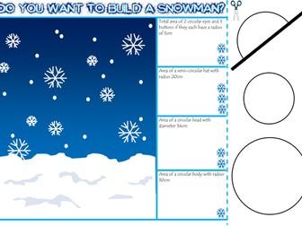 Christmas maths revision activities - Area of circles, BIDMAS and Expanding brackets