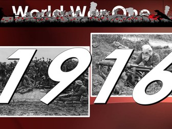Remembrance Day:  100 years on - World War One: 1916