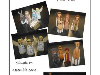 Nativity Figures - Flat Folk