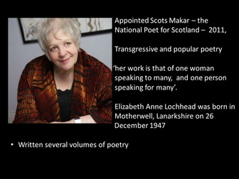 CIE IGCSE  Literature Poetry - 'For my Grandmother Knitting' by Liz Lochhead