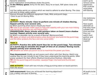 Boxing: 5 Lesson Plans