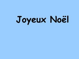 Noel powerpoint d'un sapin de Noel avec decorations et vocabulaire