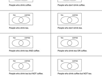 Venn Diagrams & Probability - 7 worksheets
