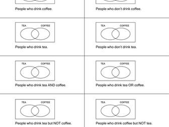 Venn Diagrams & Probability - 7 worksheets