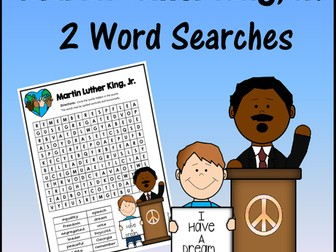 Martin Luther King, Jr. Word Searches - 2 Levels