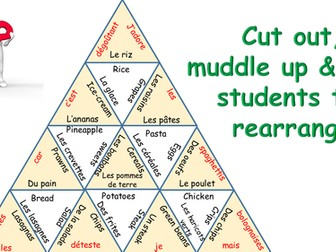 STARTER TARSIA GAME ON FOOD IN FRENCH