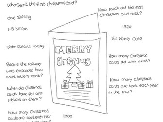 Christmas Card: History:  Who Sent the First Card