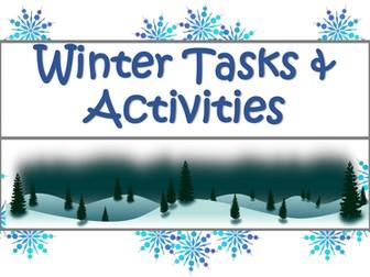 Winter Literacy Tasks & Activities