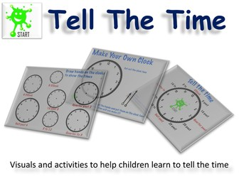 Primary / Junior Maths. Time Telling - Visuals and Activities. Updated