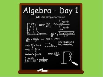 Year 6: Algebra (Day 1)
