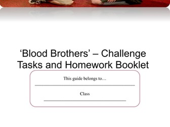 Blood Brothers AQA New Spec. 30 lesson SoW with booklet