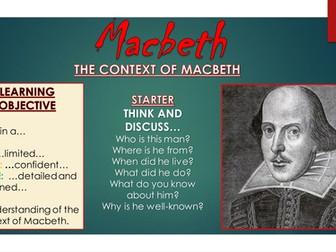Macbeth: The Context of Macbeth