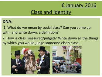 Sociology H580 / H180 Lesson 17 Class and Identity