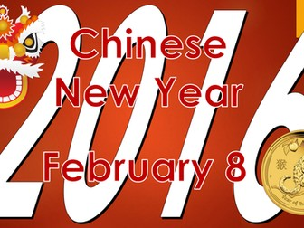 Chinese New Year 2016 - Year of the monkey