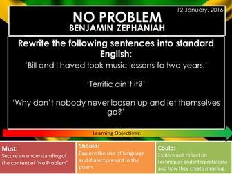 No Problem - Benjamin Zephaniah (Edexcel Conflict Poetry Cluster GCSE 1-9)