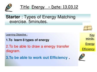 Energy transfer OUTSTANDING lesson