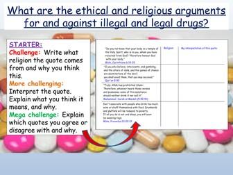 Drugs: Ethics / Morality