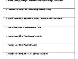 Family Fortunes - Form Tutor Activity Quiz - 26 fun worksheets