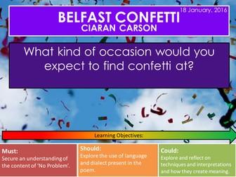 Belfast Confetti - Ciaran Carson (AQA / Edexcel Conflict Poetry Cluster GCSE 1-9)