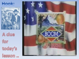 American Boom & Bust: The 1920s Immigrant Experience. (Sacco & Vanzetti).