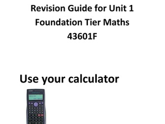 Maths GCSE foundation revision guide/ workbook unit 1