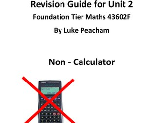 GCSE Maths foundation revision guide/ workbook unit 2