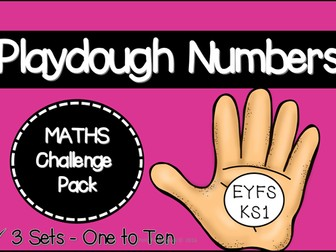 Playdough Numbers Challenge Pack (EYFS/KS1)