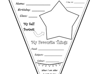All about me bunting worksheet