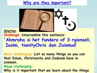 Judaism / Christianity : Abraham and Isaac