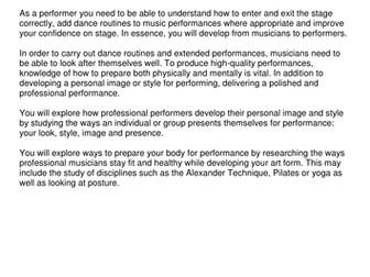 Rock School - Music Practitioner - 229 AC1.1c Rehearsal Skills