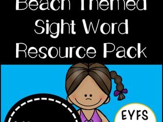 Beach Themed Sight Word Resource Pack (EYFS/KS1)
