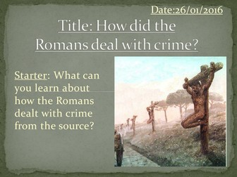 KS3 History: Entire scheme of work on Crime and Punishment