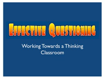 Effective Questioning in the Primary Classroom