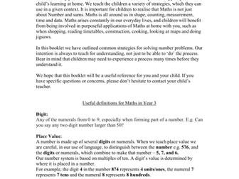 Maths Information Booklet for Parents (Mental Maths Information)