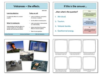 Whole lesson - the effects of a volcano