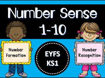 Number Sense from 1-10 (Unit of Work EYFS/KS1)