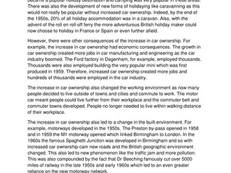 A level History Britain Transformed Lesson on Leisure and Travel